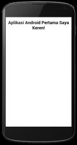 Tampilan aplikasi mobile dengan PhoneGap