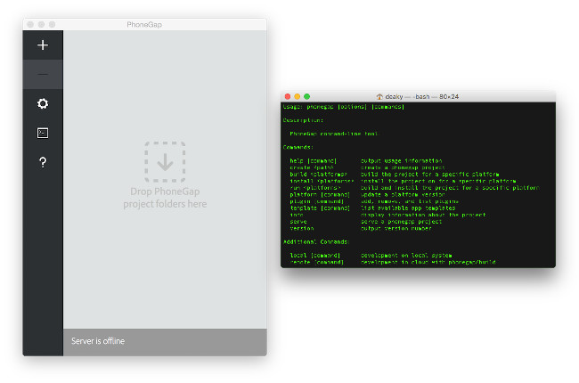 PhoneGap Desktop App vs PhoneGap CLI